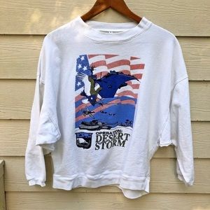 Vintage Operation Desert Storm Sweatshirt  UNISEX